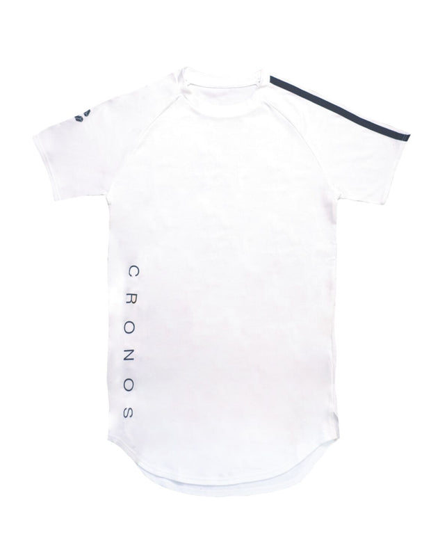 CRONOS SHOULDER TWO LINE T-SHIRTS【WHITE】