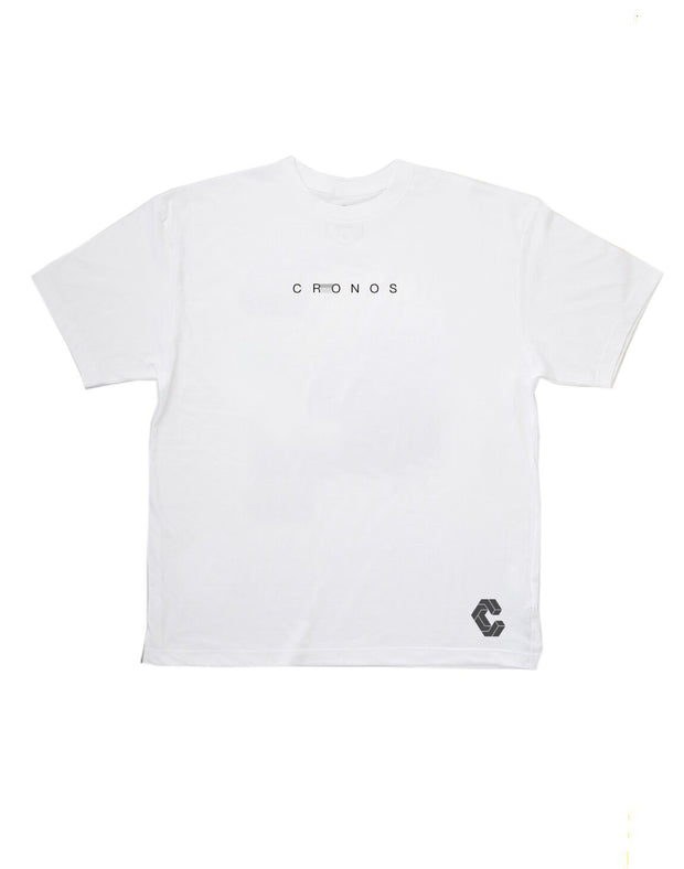 CRONOS STITCH LOGO T-SHIRTS【WHITE】