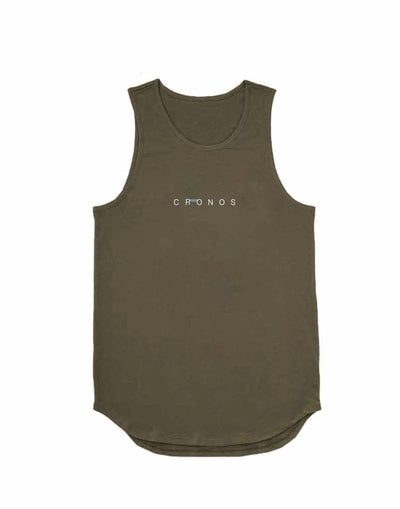 CRONOS STITCH TANK TOP【KHAKI】
