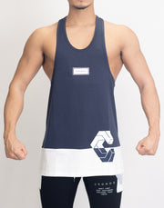CRONOS BOX MODE SIDE LOGO TANK TOP NAVY×WHITE