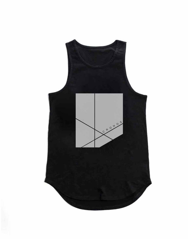 CRONOS NEW BOX LOGO TANK TOP BLACK