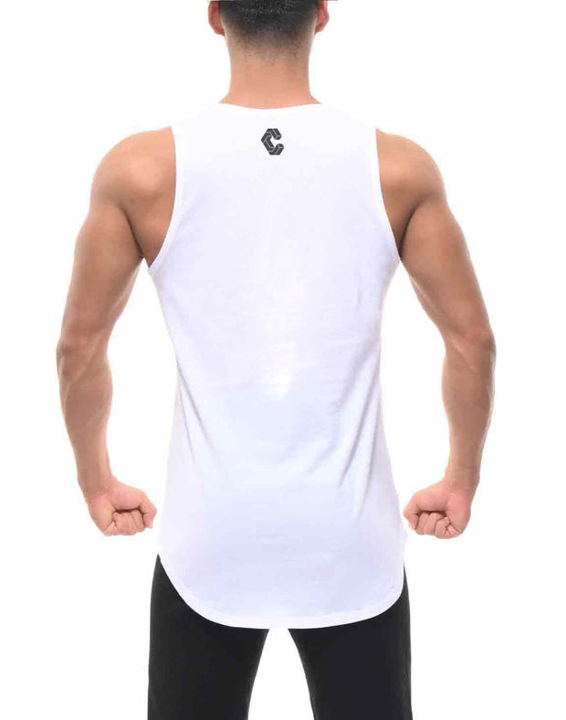 CRONOS SIMPLE LOGO TANK TOP WHITE