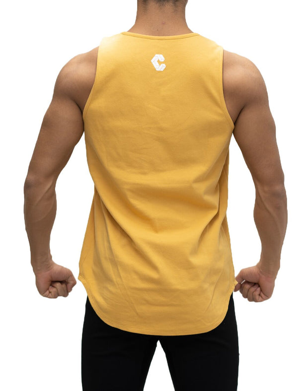 CRONOS SIMPLE LOGO TANK TOP YELLOW
