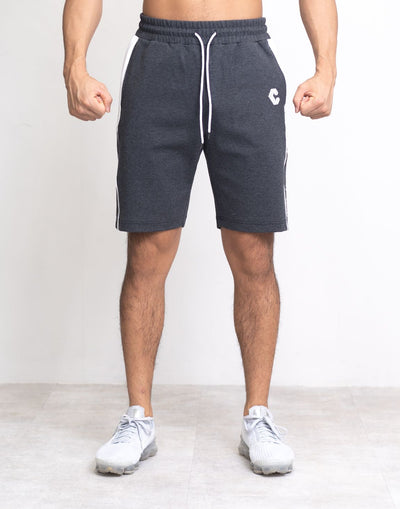 CRONOS SIDE LINE LOGO SHORTS C.GRAY