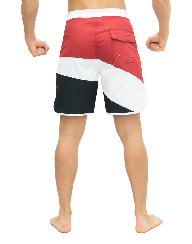 CRONOS THREE COLORS BOARD SHORTS【RED】