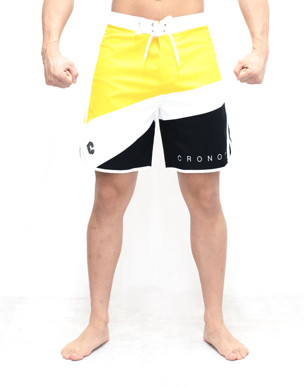 CRONOS THREE COLORS BOARD SHORTS【YELLOW】