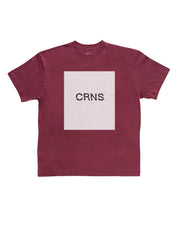 CRNS SQUARE PRINT OVER SIZE T-SHIRT 【RED】