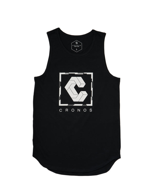 CRONOS SQUARE LOGO TANK TOP 【BLACK】