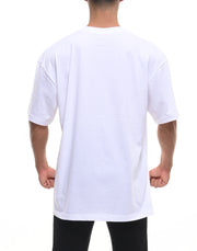 CRNS SQUARE PRINT OVER SIZE T-SHIRT 【WHITE】