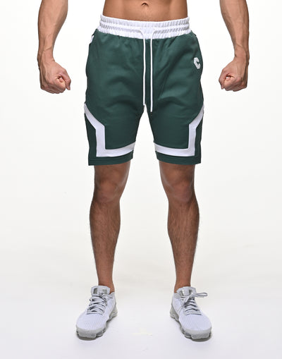 CRONOS BACK LOGO SHORTS【GREEN】