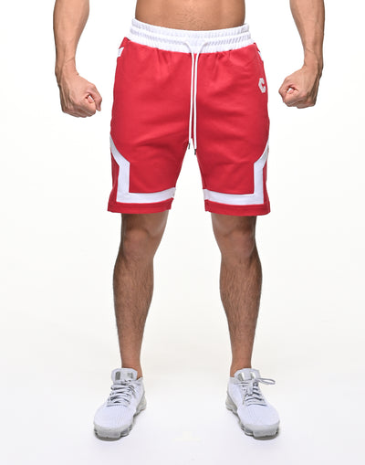 CRONOS BACK LOGO SHORTS【RED】