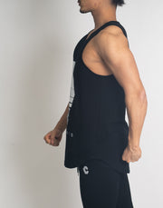 CRONOS REFLECTION LOGO TANK TOP【BLACK】
