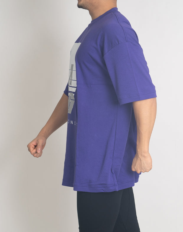 CRONOS REFLECTION LOGO OVER SIZE T-SHIRTS【PURPLE】