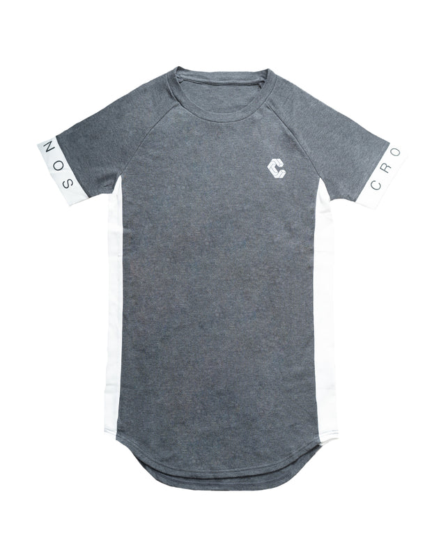 CUFF DESIGN LOGO TIGHT SIZE T-SHIRTS【C.GRAY】