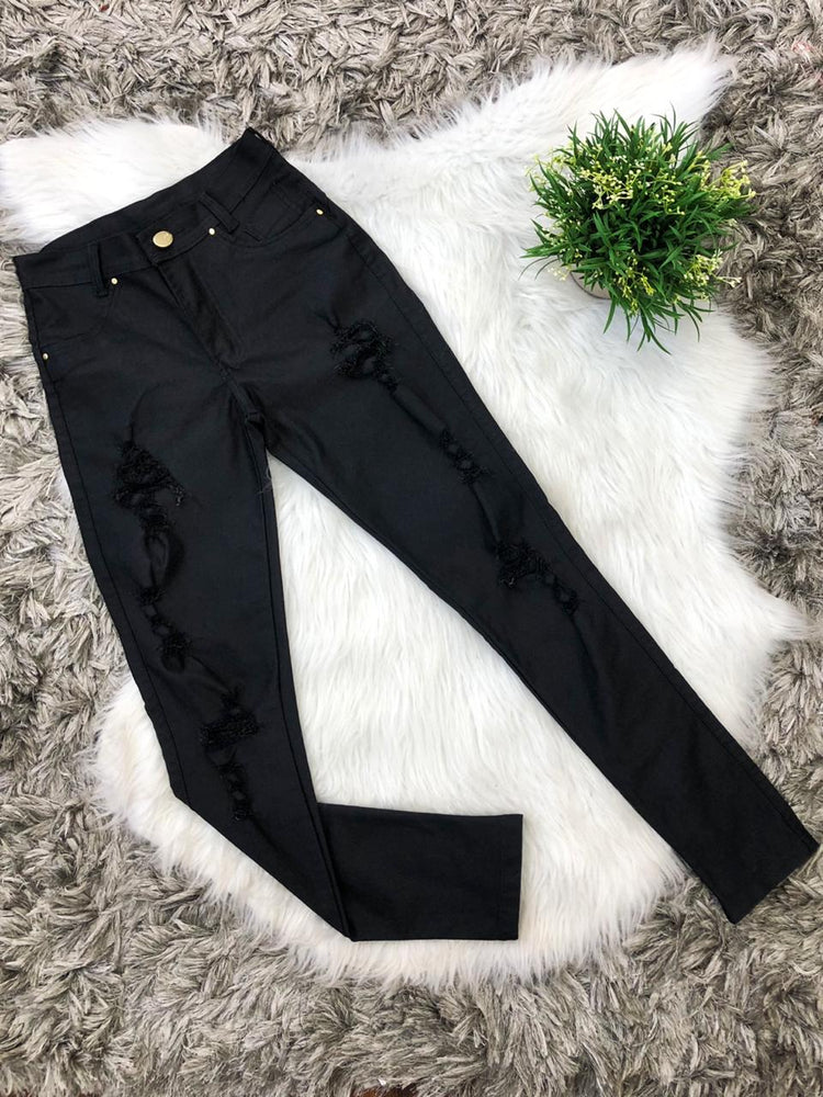 Calça Jeans Destroyed Black 3609 BAZAR