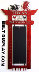 Martial Arts Belt Rack: Karate Belt Display: Tae Kwon Do Belt Rack: Personalized Karate Belt Display