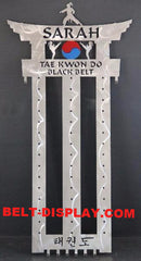 Tae Kwon Do Belt Holder: Karate Belt Display: Martial Arts Belt Rack