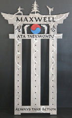 ATA Taekwondo Belt Display: Martial Arts Belt Rack: ATA Belt Display