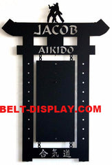 Aikido Belt Display:  Karate Belt Display