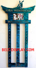 Brazilian Jui-jitsu Belt Holder: BJJ Belt Display Rack: Martial Arts Belt Rack