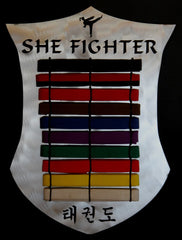 Personalized Martial Arts Belt  Holder  Plaque