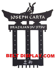 Brazilian Jui-jitsu Belt Holder: Juijitsu Belt Display Rack: Martial Arts Belt Rack