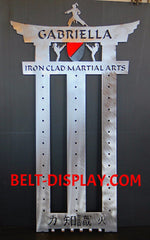 Custom Taekwondo Belt Display: Karate Belt Level Display Rack: Martial Arts Belt Holder