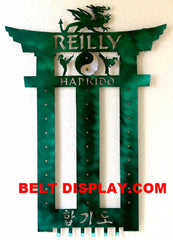 Hapkido Belt Display Rack-Karate-Belt-Display-Holder-Personalized
