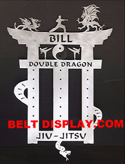 Jiu-Jitsu Belt Display: BJJ-Belt Display: Martial Arts Belt Holder