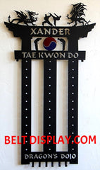 Personalized Karate Belt Display Idea: Karate Belt Holder Rack: Martial Arts Belt Display: Personalized