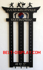 Taekwondo Belt Display | Karate Belt Levels Display | Martial Arts Belt Display | Personalized