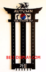 Tae Kwon Do Belt Display: Martial Arts Belt Rack Holder: Karate Belt  Display