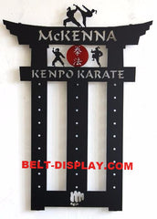 Karate Belt Display |  Taekwondo Belt Holder | Martial Arts Belt Rack