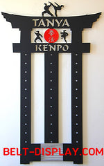 Top Online Kenpo Belt Display | Karate Belt Rack | Martial Arts Belt Holder | Personalized