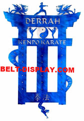 Kenpo Karate Belt Display: Taekwondo Belt Rack: Martial Arts Belt Rack