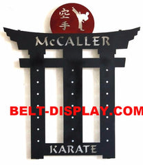 Karate Belt Display: Martial Arts Belt Rack Holder: Tae Kwon do Belt Rack