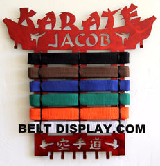 Buy Karate Belt Displays Personalized - Exclusive designs, Second to none | Belt-Display.com