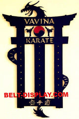 Karate Belt Display: Martial Arts Belt Display: Personalized Belt Rack