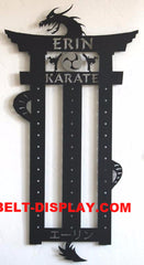 Martial Arts Belt Display Rack: Personalized Karate Belt Display