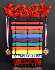 Karate Belt Display: Martial Arts Belt Holder: Karate Belt Rack