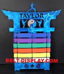 Karate Belt Holder / Expandable Personalized Display Rack