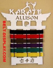 Karate Belt Rack: Martial Arts Belt Holder: Karate Belt Display