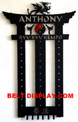 Karate Belt Display: Best selling Personalized Martial Arts Holders Guaranteed