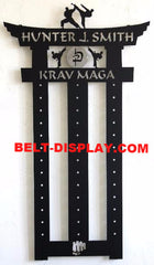 Krav Maga Belt Display: Karate Belt Rack: Martial Arts Belt Rack