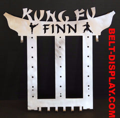 Kung Fu  Belt Display: Martial Arts Belt Rack: personalized kung fu belt holder: belt-display.com