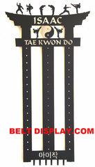 Karate Belt Display: Taekwondo Belt Display Rack: Martial Arts Belt Rack