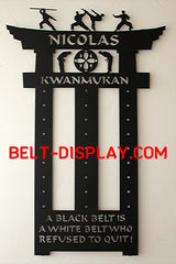 Shop Largest Karate Belt Holder Designs Online | Martial Arts Belt Racks | Belt-Display.com