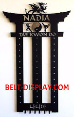 Tae Kwon Do Belt Holder : Martial Arts Belt Rack Holder: Karate Belt  Display