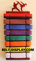 Martial Arts Belt Display: Karate Belts Level Display Rack: Tae Kwon Do Belt Holder