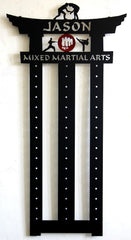MMA Belt Display: Mixed Martial Arts Display Rack: Martial Arts Belt Rack